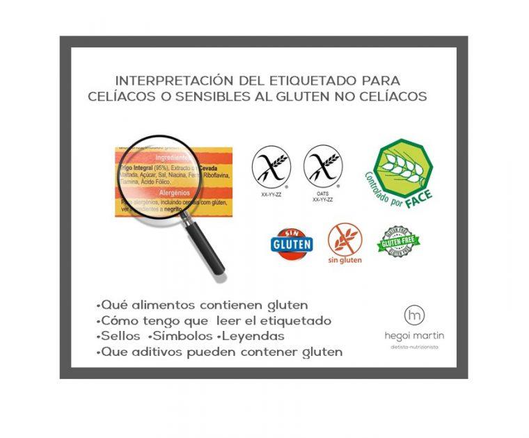 Claves para interpretar las etiquetas de los alimentos sin gluten