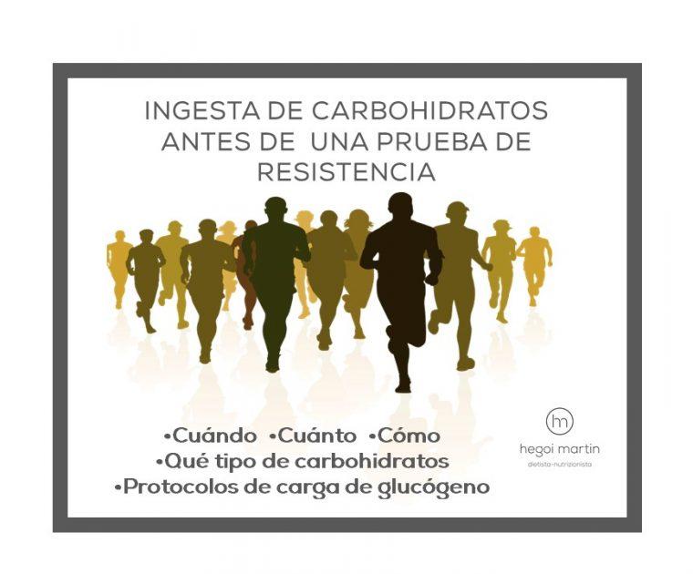 INGESTA DE CARBOHIDRATOS ANTES DE UNA PRUEBA DE RESISTENCIA